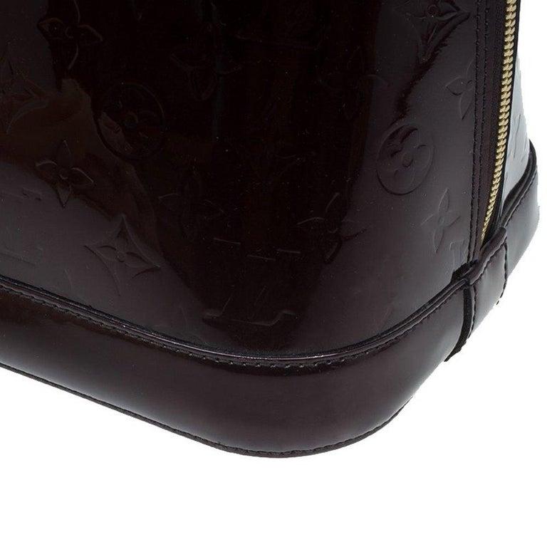 Louis Vuitton Amarante Monogram Vernis Alma GM Bag For Sale 5