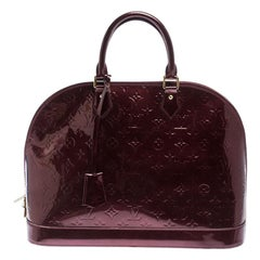 Louis Vuitton Amarante Monogram Vernis Alma GM Bag