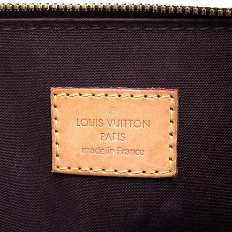 Louis Vuitton Amarante Monogram Vernis Alma PM Bag For Sale 6