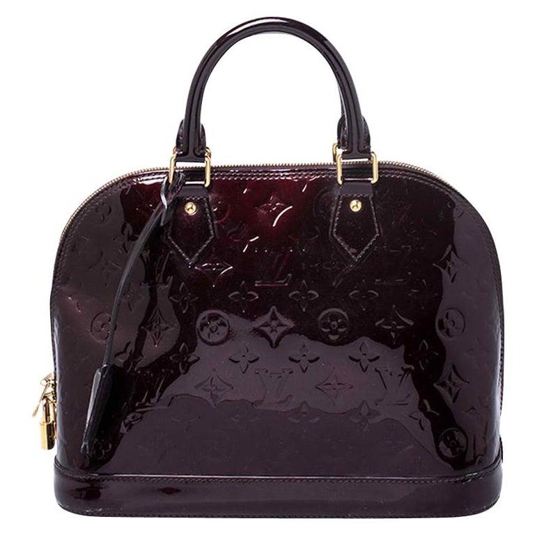 Louis Vuitton Amarante Monogram Vernis Alma PM Bag For Sale