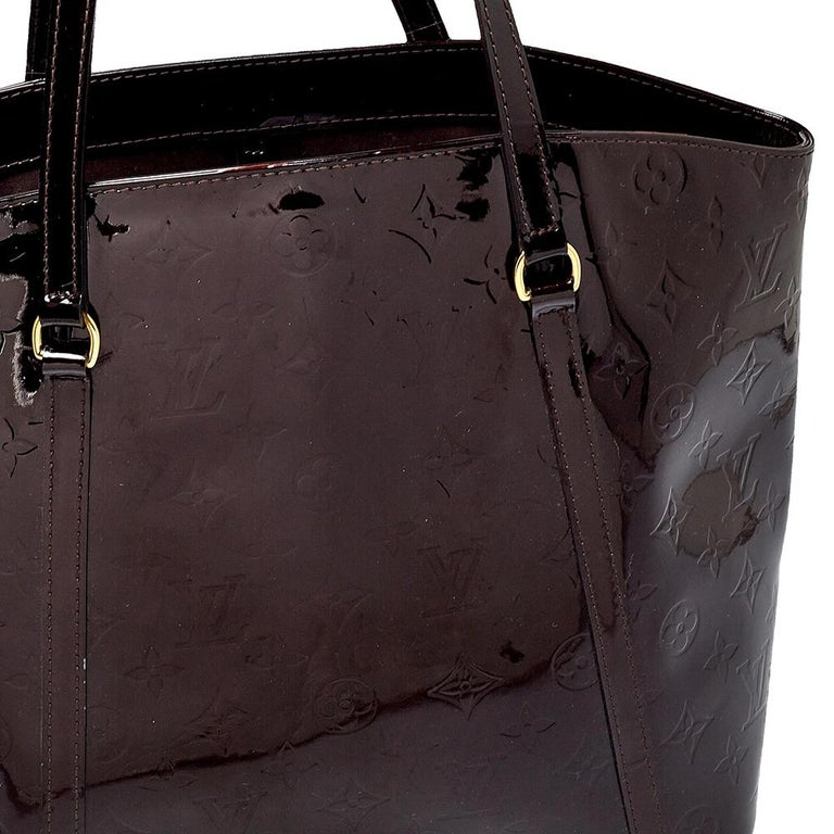 Black Louis Vuitton Amarante Monogram Vernis Avalon GM Bag