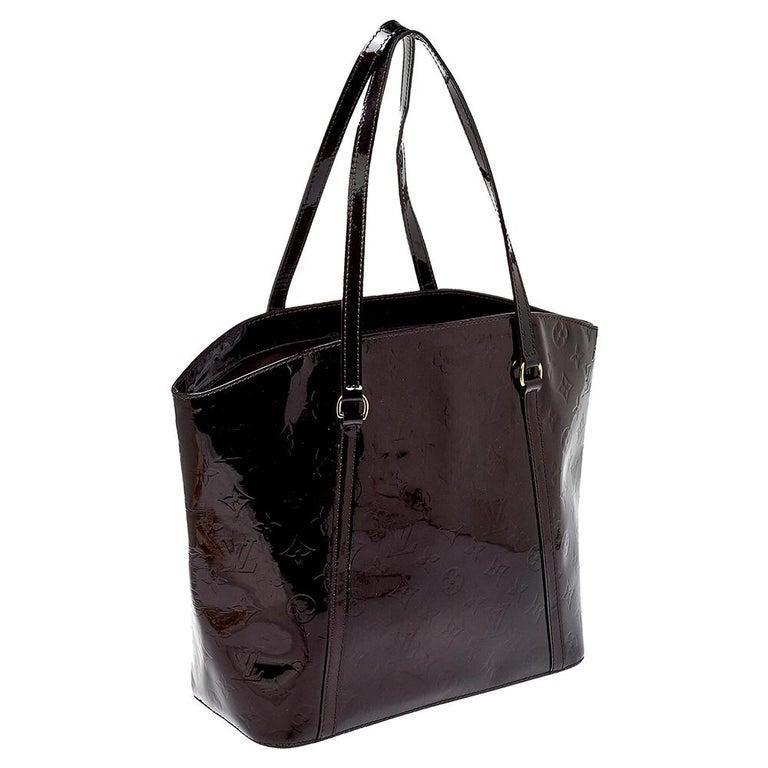 Louis Vuitton Amarante Monogram Vernis Avalon GM Bag In Good Condition In Dubai, Al Qouz 2