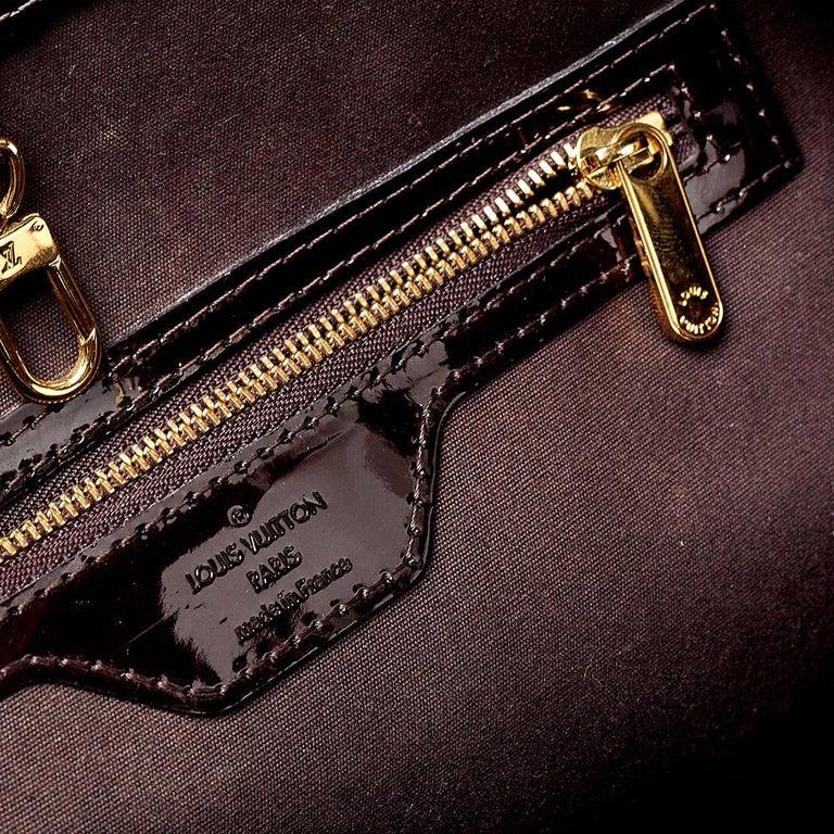 Louis Vuitton Amarante Monogram Vernis Avalon GM Bag 2
