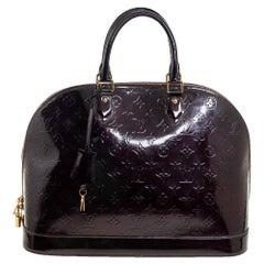 Louis Vuitton Amarante Monogram Vernis Leather Alma GM Bag