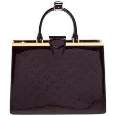 Louis Vuitton Amarante Monogram Vernis Leather Deesse GM Bag