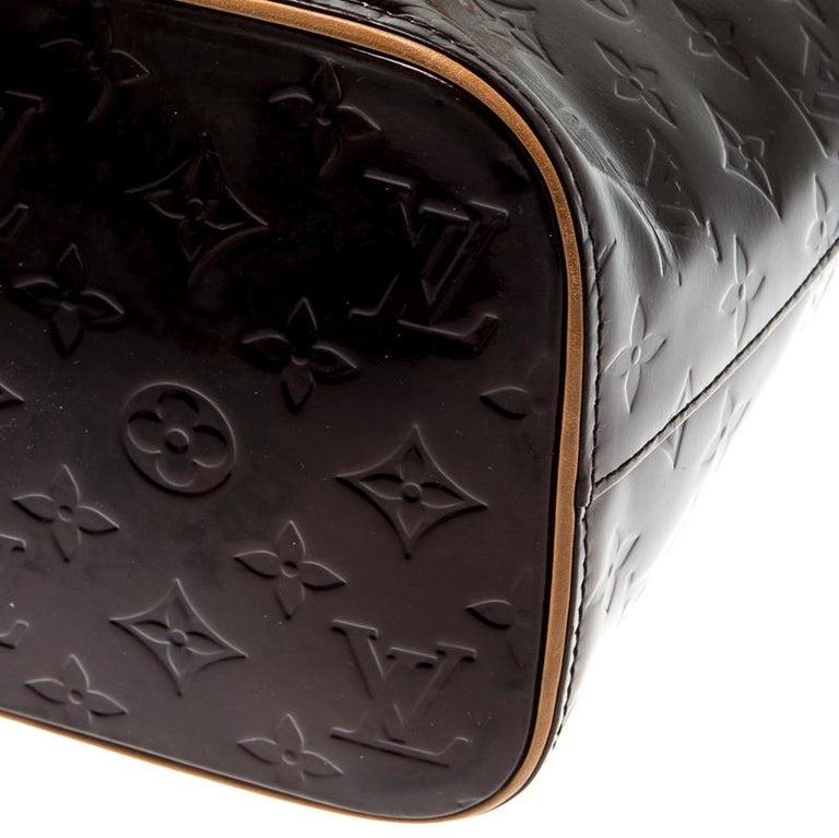 Louis Vuitton Amarante Monogram Vernis Leather Houston Bag For Sale 5