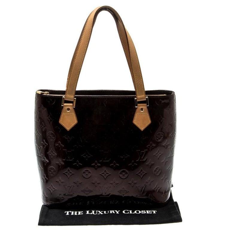 Louis Vuitton Amarante Monogram Vernis Leather Houston Bag For Sale 7