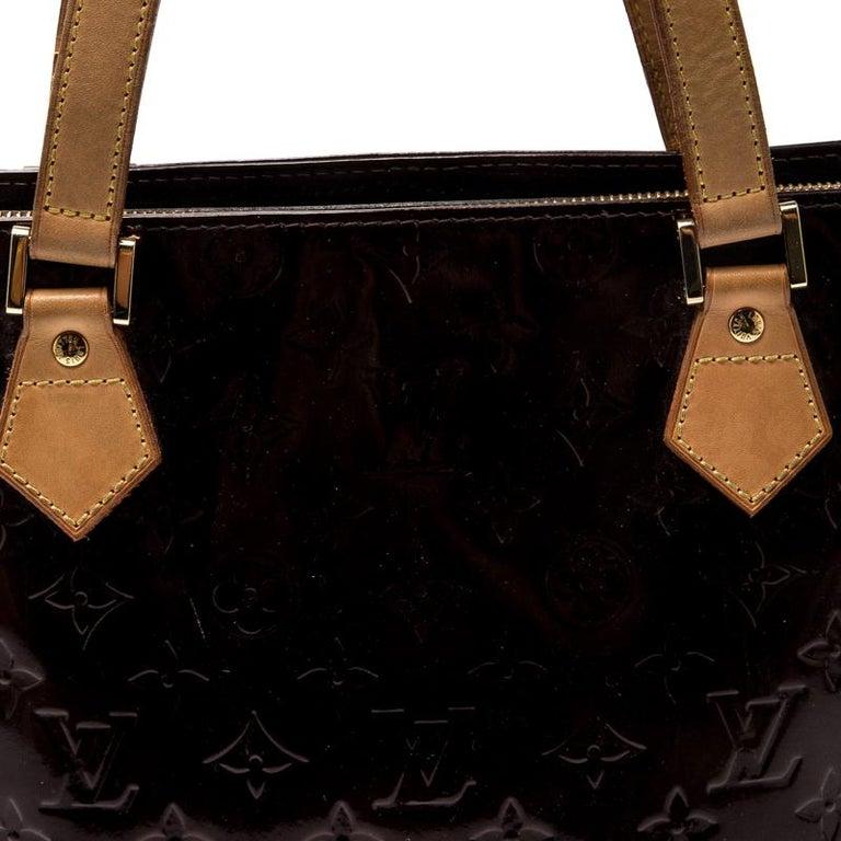 Women's Louis Vuitton Amarante Monogram Vernis Leather Houston Bag For Sale