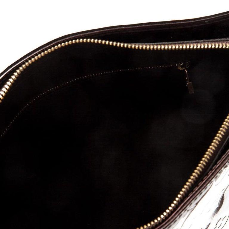 Louis Vuitton Amarante Monogram Vernis Leather Houston Bag For Sale 4