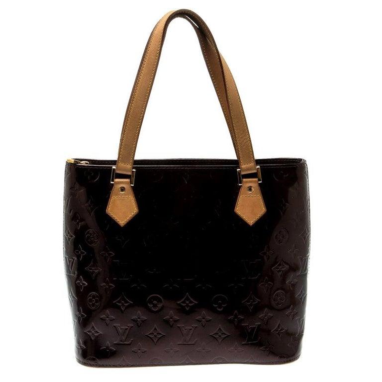 Louis Vuitton Amarante Monogram Vernis Leather Houston Bag For Sale