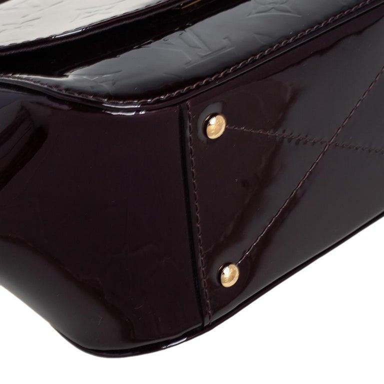 Louis Vuitton Amarante Monogram Vernis Pasadena Bag For Sale 5