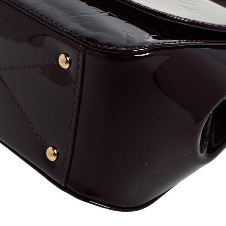 Louis Vuitton Amarante Monogram Vernis Pasadena Bag For Sale 6