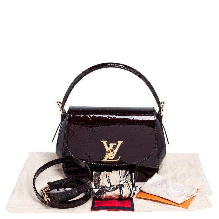 Louis Vuitton Amarante Monogram Vernis Pasadena Bag For Sale 8