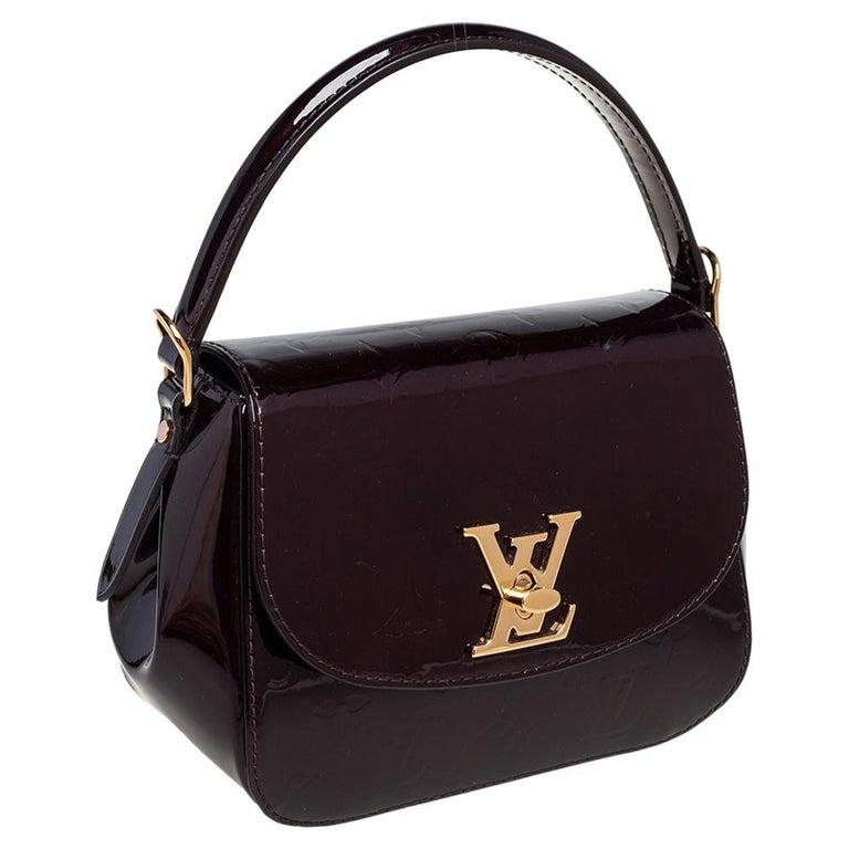 Louis Vuitton Amarante Monogram Vernis Pasadena Bag In Good Condition For Sale In Dubai, Al Qouz 2