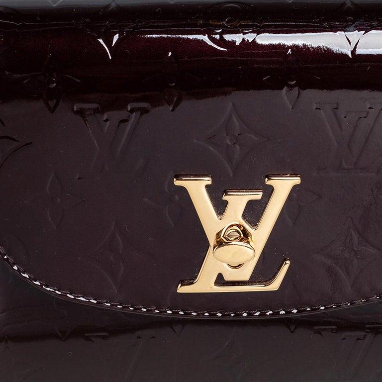 Louis Vuitton Amarante Monogram Vernis Pasadena Bag For Sale 3