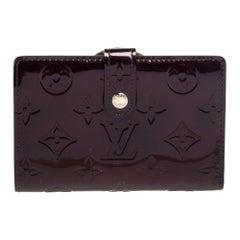 Louis Vuitton Amarante Monogram Vernis Port Feuille Vienoise French Purse Wallet