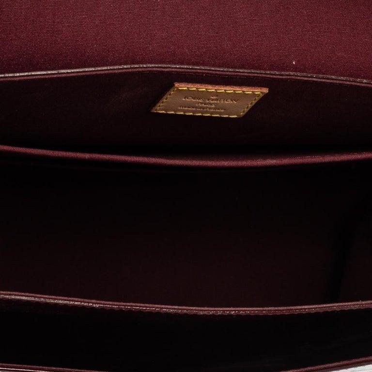 Louis Vuitton Amarante Monogram Vernis Romaine Bag For Sale 5