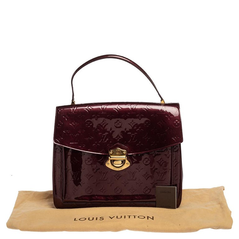 Louis Vuitton Amarante Monogram Vernis Romaine Bag For Sale 6