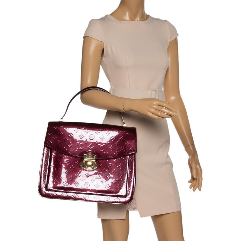 Black Louis Vuitton Amarante Monogram Vernis Romaine Bag For Sale