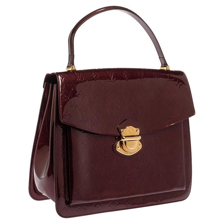 Louis Vuitton Amarante Monogram Vernis Romaine Bag In Good Condition For Sale In Dubai, Al Qouz 2
