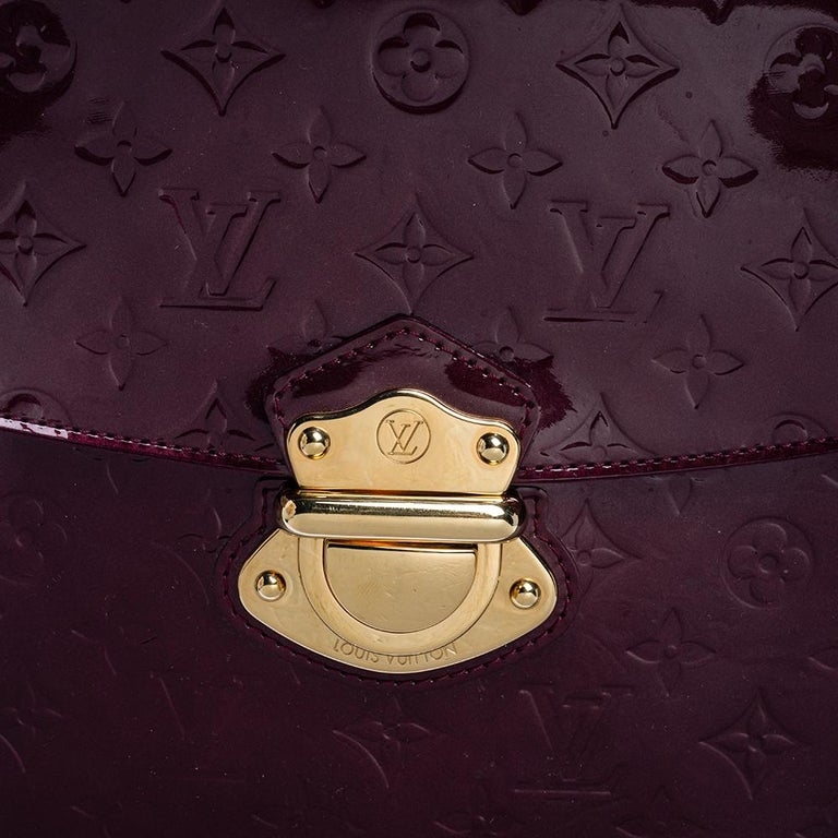 Louis Vuitton Amarante Monogram Vernis Romaine Bag For Sale 1