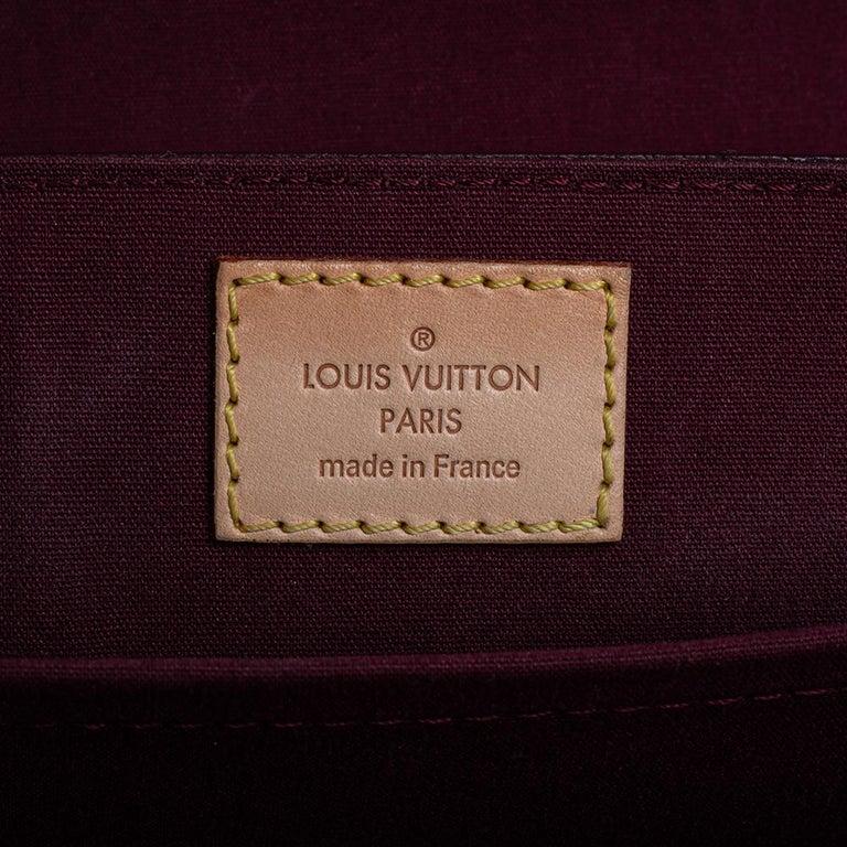 Louis Vuitton Amarante Monogram Vernis Romaine Bag For Sale 2