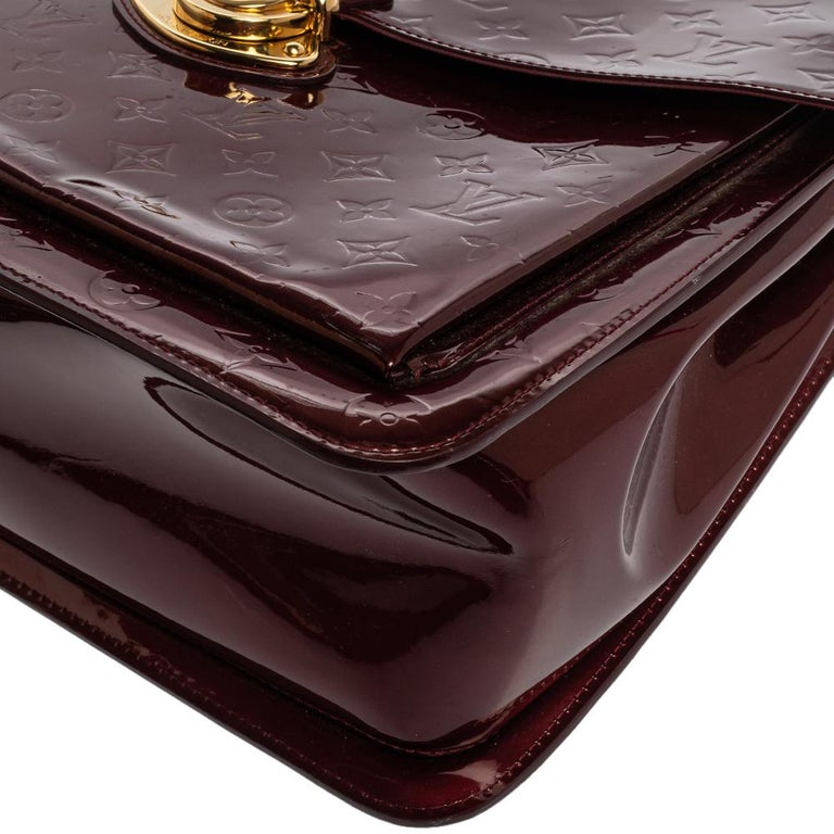Louis Vuitton Amarante Monogram Vernis Romaine Bag For Sale 4