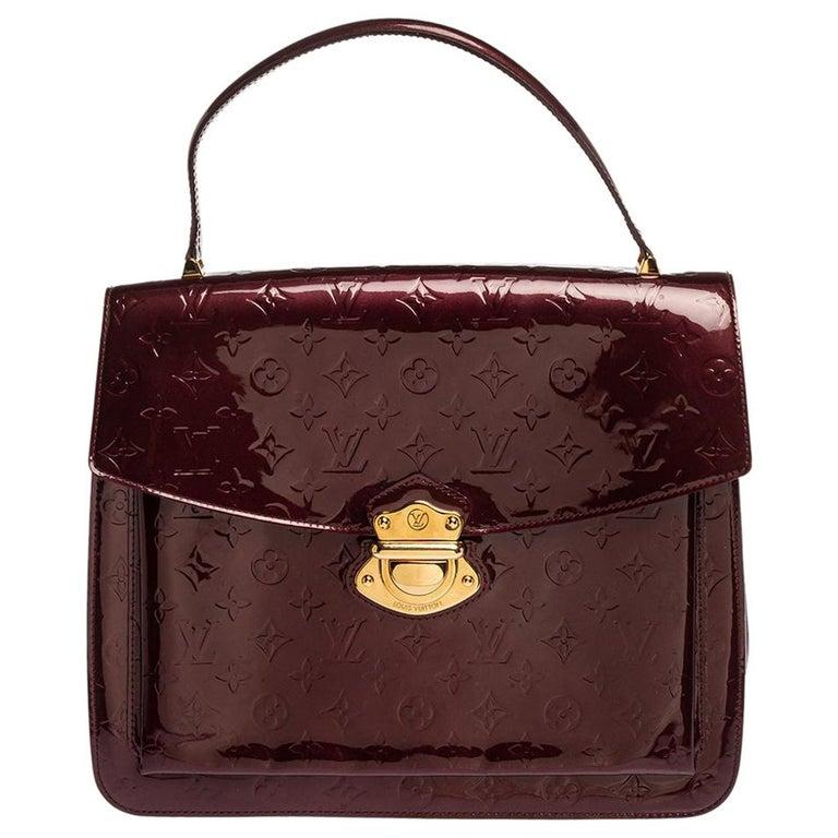 Louis Vuitton Amarante Monogram Vernis Romaine Bag For Sale