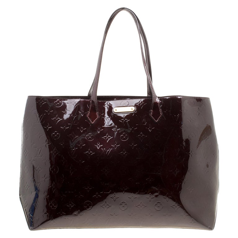 6104071af815a Louis Vuitton Amarante Monogram Vernis Wilshire GM Bag For Sale at ...
