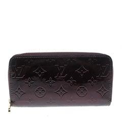 Louis Vuitton Amarante Monogram Vernis Zippy Wallet