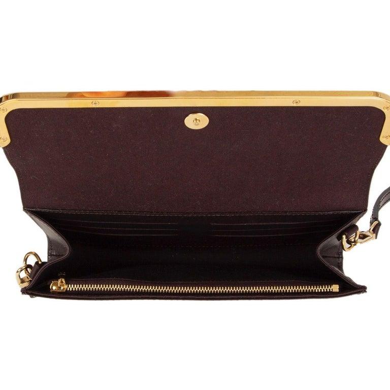 LOUIS VUITTON Amarante purple Monogram Vernis ROSSMORE MM Shoulder Bag For Sale 1