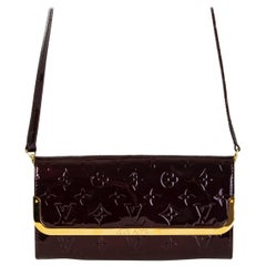 LOUIS VUITTON Amarante purple Monogram Vernis ROSSMORE MM Shoulder Bag
