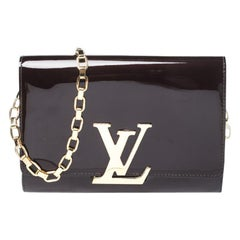 Louis Vuitton Amarante Vernis Leather Chain Louise GM Bag