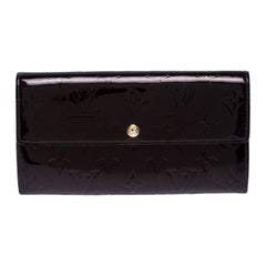 Louis Vuitton Amarante Vernis Monogram Sarah Continental Wallet
