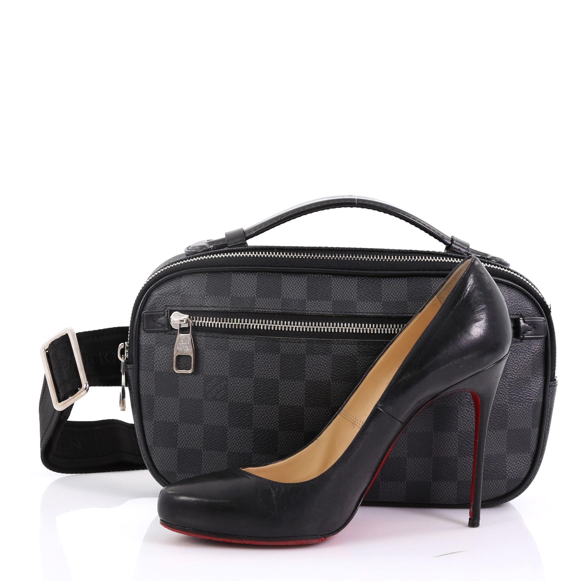 4b690dbbcc22 Louis Vuitton Ambler Bag Damier Graphite For Sale at 1stdibs