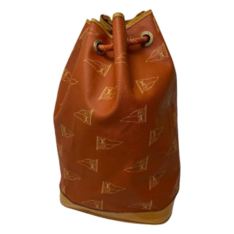 Louis Vuitton America's CUP LE Bucket Bag in Orange Canvas with Cowhide