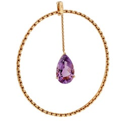 Louis Vuitton Amethyst Chain Bangle Bracelet