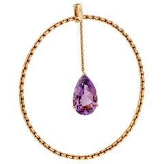 Louis Vuitton Amethyst Chain Pendant Necklace