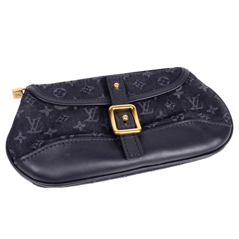 98069012c86 Louis Vuitton Anne Sophie Small Denim Blue Canvas   Leather Monogram Pouch  Bag For Sale