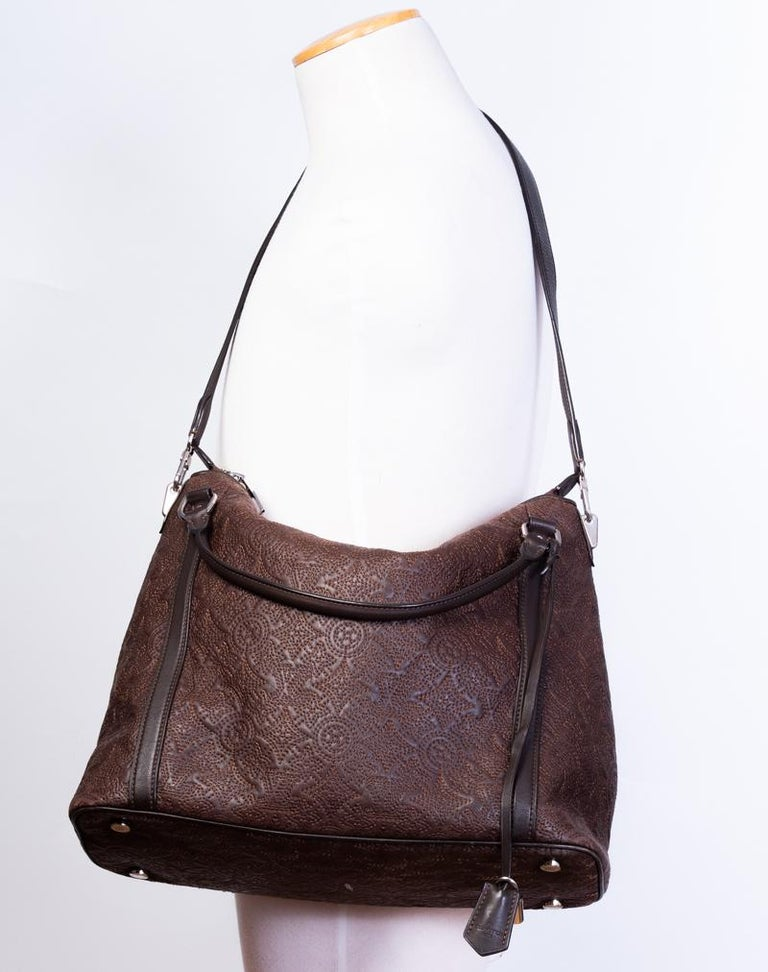 Black Louis Vuitton Antheia Leather Ixia MM shoulder hobo bag For Sale