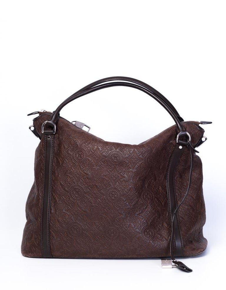 Louis Vuitton Antheia Leather Ixia MM shoulder hobo bag For Sale 3
