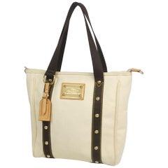 LOUIS VUITTON Antigua Cabas PM Womens tote bag M40036 ivory x brown