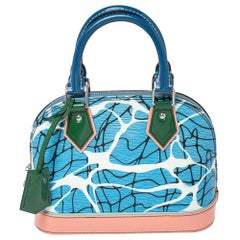 Louis Vuitton Aqua Print Epi Leather Alma BB Bag