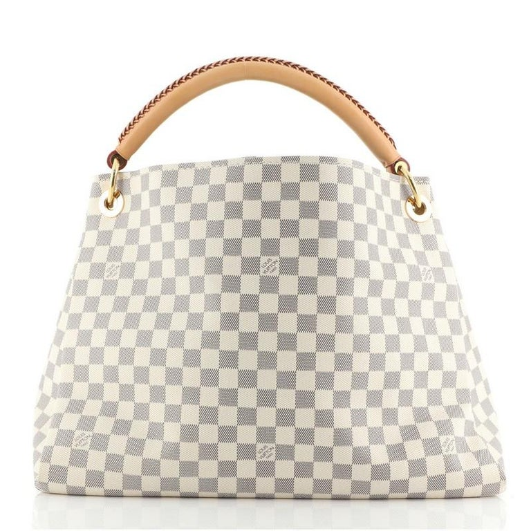 Louis Vuitton Artsy Handbag Damier MM In Fair Condition For Sale In New York, NY