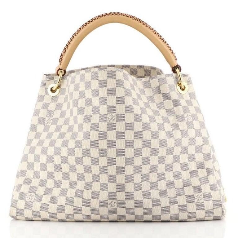 Beige Louis Vuitton Artsy Handbag Damier MM For Sale