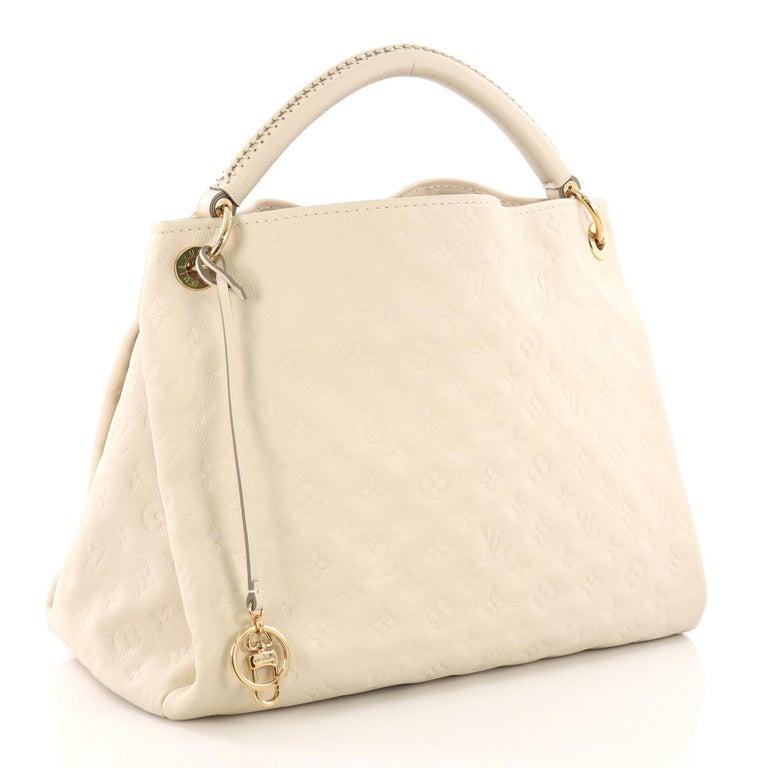 3022caa54392 White Louis Vuitton Artsy Handbag Monogram Empreinte Leather MM For Sale