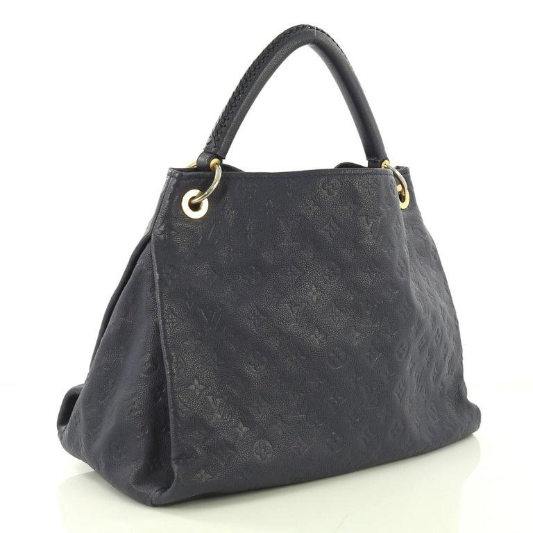 Black Louis Vuitton Artsy Handbag Monogram Empreinte Leather MM