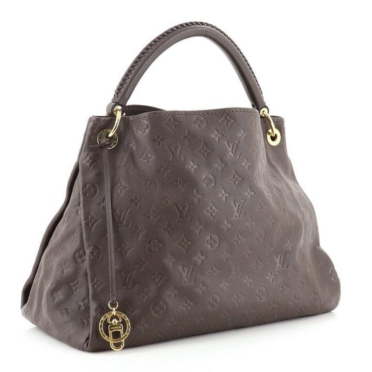 Louis Vuitton Artsy Handbag Monogram Empreinte Leather MM In Good Condition For Sale In New York, NY