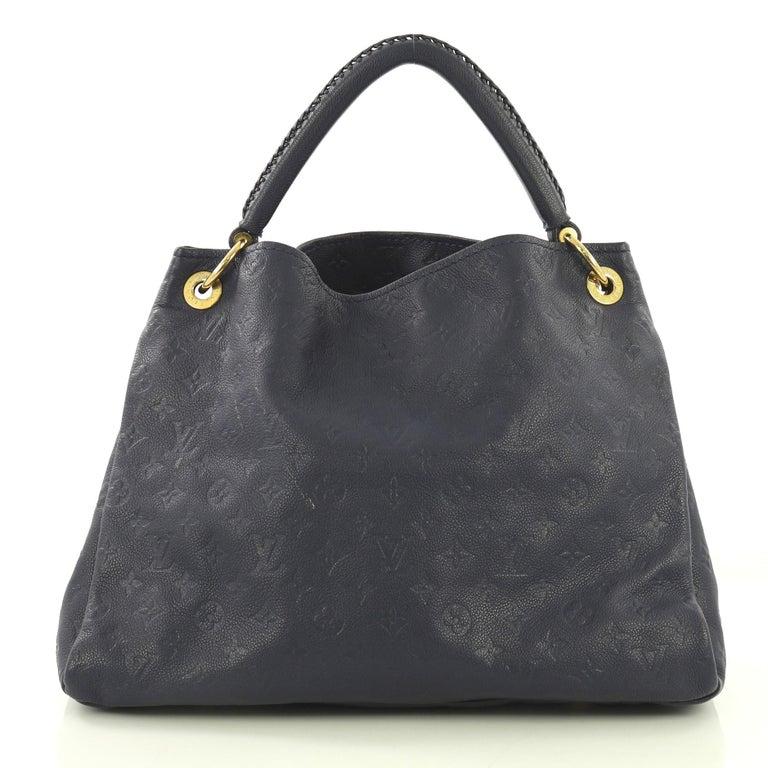 Louis Vuitton Artsy Handbag Monogram Empreinte Leather MM In Good Condition In New York, NY