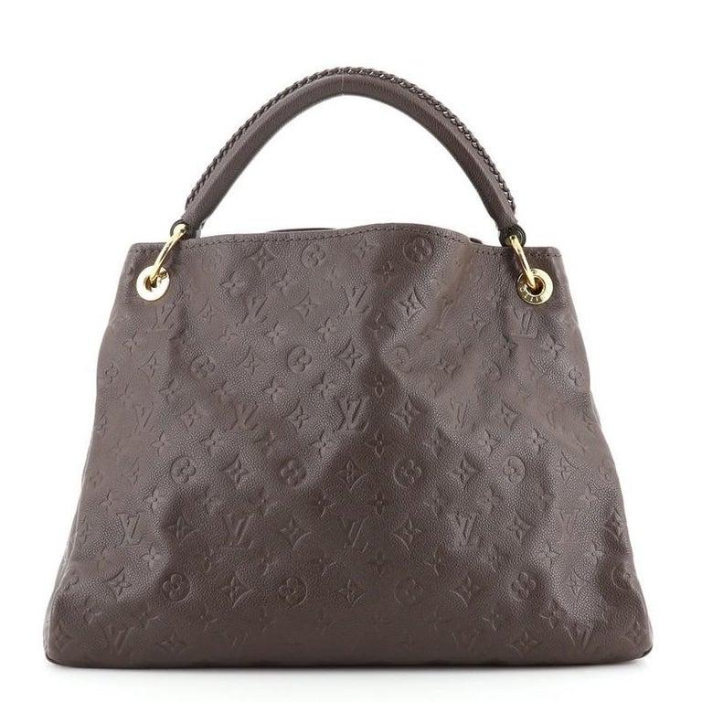 Women's or Men's Louis Vuitton Artsy Handbag Monogram Empreinte Leather MM For Sale